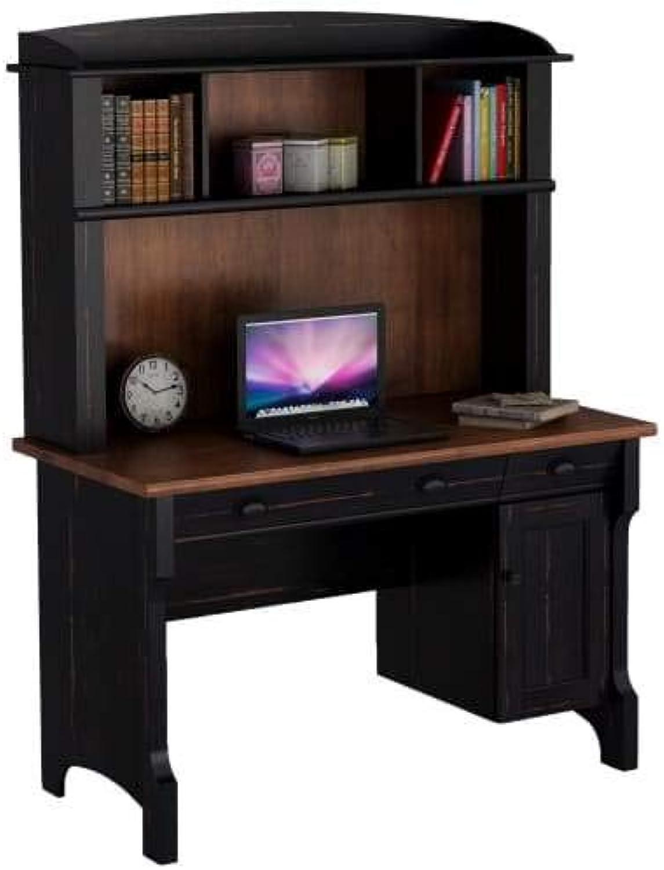 New Hawksbury Study Desk with Hutch - 120cm - Antique Black