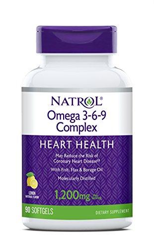 Natrol Omega 3-6-9 Complex Softgels, 1,200mg, 90 Count