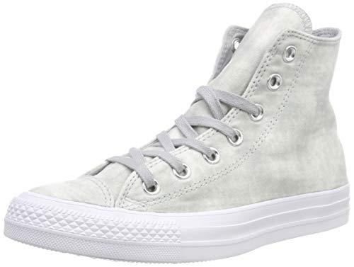 Converse Chuck Taylor Ctas Hi Cotton, Scarpe da Fitness Unisex-Bambini, Grigio (Wolf Grey/Wolf Grey/White 097), 35 EU