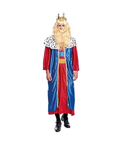 H HANSEL HOME Disfraz Rey Mago Melchor Adulto - Hombre Vestido para Cosplay/Navidad Size L