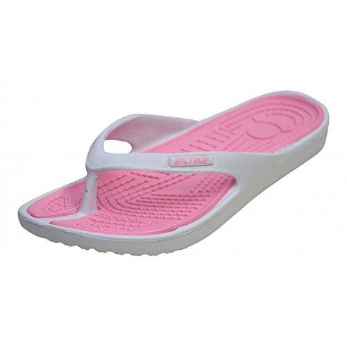 Sandalias para mujer y hombre, Surf EVA/QUIVA, para surf, verano, playa, tallas 36-41, color Rosa, talla 36-40 EU