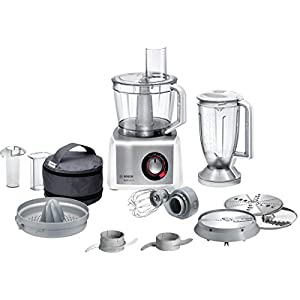 Bosch MutiTalent8 MC812S734G Food Processor, Plastic, 1200W – White/Stainless Steel