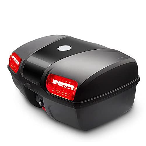 HDGFYTOR Baúl de Moto Universal 47L con Llaves y Accesorios Topcase Casco Moto Caja de Motocicleta Ciclomotores Scooter