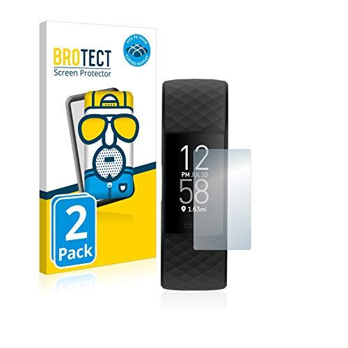 BROTECT Full-Cover Schutzfolie Matt kompatibel mit Fitbit Charge 4 (2 Stück) - Full-Screen Displayschutz-Folie, 3D Curved, Anti-Reflex