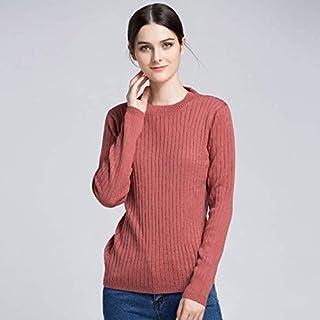SDJYH suéter de Invierno para Mujer, Jersey con Cuello Redondo, suéteres de Punto Suave, Tops para Mujer, 06