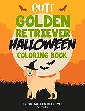 Cute Golden Retriever Halloween Coloring Book