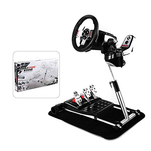 Z ZELUS Steering Wheel Stand Heavy Duty Steel Frame Foldable G29 Racing Steering Wheel Stand Compatible with Logitech G27, G29, G25, G920, Wheel and Pedals Not Included