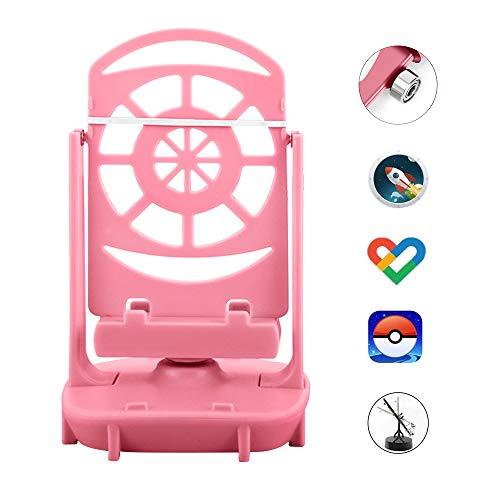 NEWZEROL Steps Counter Zubehör Kompatibel für Poke Ball Plus/Pokemon Go Handy-Schrittzähler, [USB-Kabel] [Einfache Installation] [Stummschaltung] [Unterstützung für 2 Telefone]-Rosa