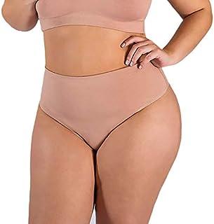 Calcinha Plus Size Pala Cós Alto em Algodão Bege cor da Pele, Rosê ou Preta - PL262-PL261