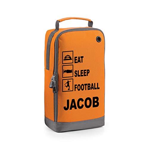 Gepersonaliseerde Eat Sleep Voetbal Boot Tas met Uw Naam of Club School PE Tas