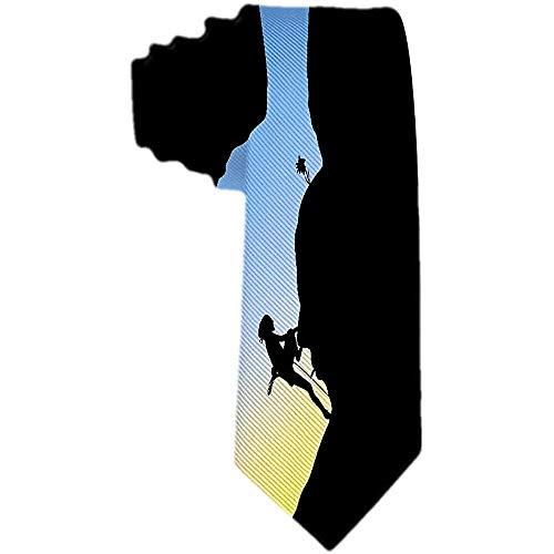 Mens Rock Climber Krawatte Polyester Krawatte gewebt Jacquard Krawatten Mens Novetly Geschenk