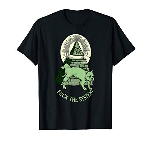 Anti NWO Illuminati Illuminaten Pyramide Allsehendes Auge T-Shirt