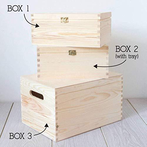Erinnerungsbox Baby Mädchen personalisiert, Geschenk für Taufe Mädchen, Patenkind Geschenk, Babys erstes Weihnachten - 3