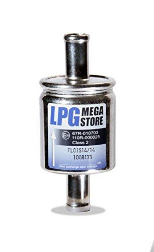 Filtre à gaz 14 mm voiture gaz, LPG, GPL Filtre universel