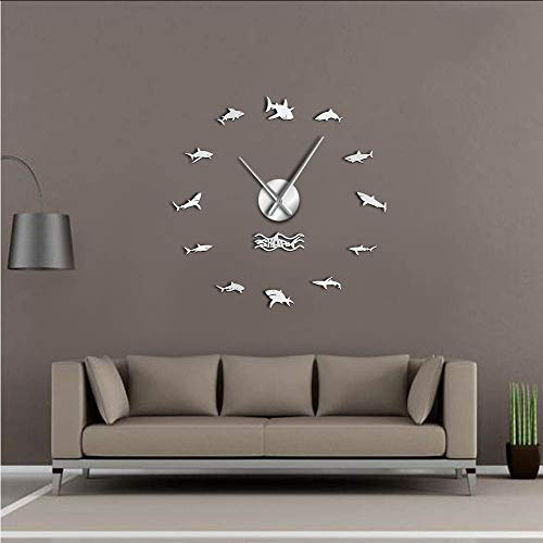 Yddlie Ocean Sharks Arte de la Pared DIY Pegatinas de Pared Reloj...