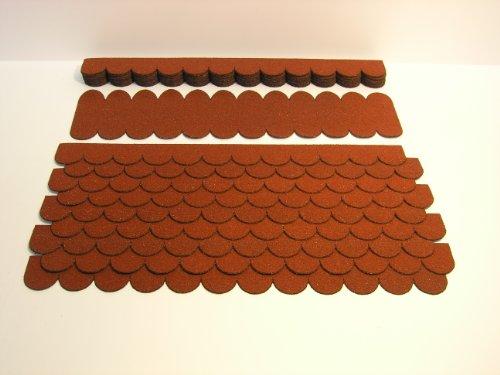 Mini Dachschindeln Rund (41 mm) - Set - Rot 23.402 Dachschindel