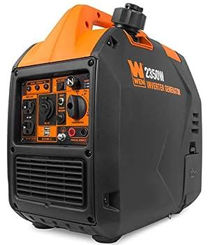 WEN 56235i Super Quiet 2350-Watt Portable Inverter Generator with Fuel Shut Off CARB Compliant Ultra Lightweight Black
