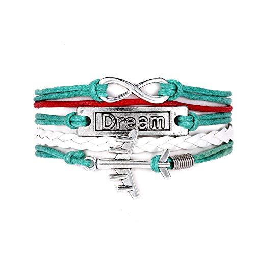 Armband Vintage Traum Flugzeug Multilayer Leder Armband Männer Frauen Mode Geflochtene handgemachte Seil Wrap Armbänder & Armreifen Männliches Geschenk 1040