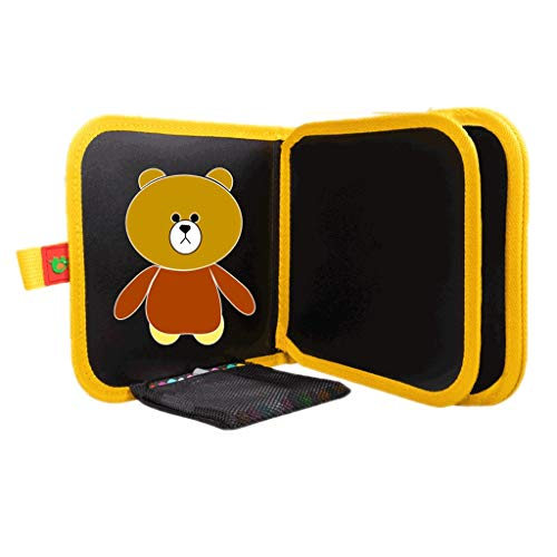 HMEI Tablero de Dibujo Creativo Tablero de Dibujo magnético para niños, Tablero de Dibujo borrable portátil, para Graffiti, Escritura, Dibujo (Color : Bear Six-Page Pack)