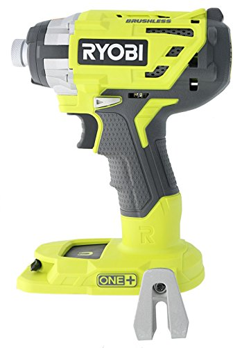 Ryobi P238 18V One+ Brushless 1/4 2,000 Inch Pound, 3,100 RPM Cordless Impact Driver w/ Gripzone Overmold, Belt Clip, and Tri-Beam LED (Power Tool Only, Battery Not Included)