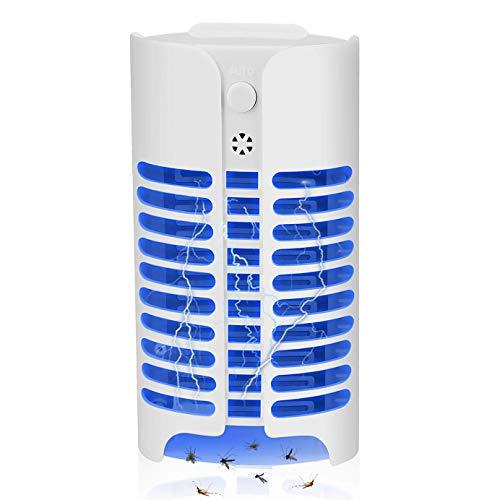 Bivan UV Asesino de Mosquitos Electrónico, 0.8W LED Lámpara Electrónica Insecto Asesino, Mosquitos Killer, Asesino de Mosquitos Fotocatalitico contra Volar/Mosquitos/Polilla (1 Pieza)