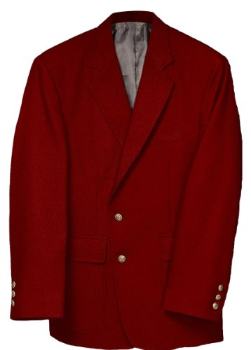 Edwards Men's Value Poly Blazer, RED, 52