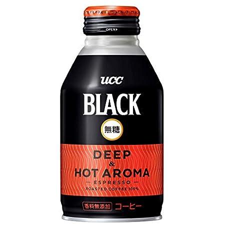 【わけあり】UCC BLACK無糖 DEEP & HOT AROMA 缶コーヒー 275g×24本 1,246円(51.9円/本)!プライム会員送料無料!