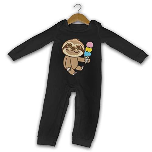 WushXiao Süßes Faultier Eis lang Komfort Baby Crawler schwarz Gr. 18 Monate,...