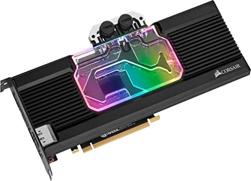 Corsair Hydro X Series XG7 RGB 20-SERIES GPU-Wasserkühler (für NVIDIA GeForce 2080 Ti Founders Edition, Präzise Konstruktion, Aluminium Backplate, Durchflussindikator, Anpassbar RGB-Beleucht) schwarz