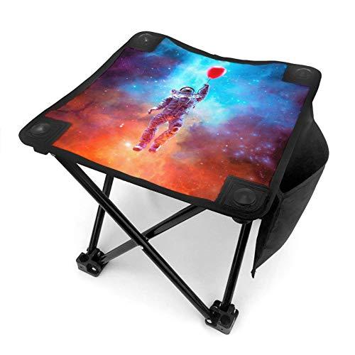 Hermoso taburete plegable con diseño de unicornios y nubes, portátil, con bolsa de transporte, para pesca, senderismo, jardinería y playa, 12 x 30,5 cm