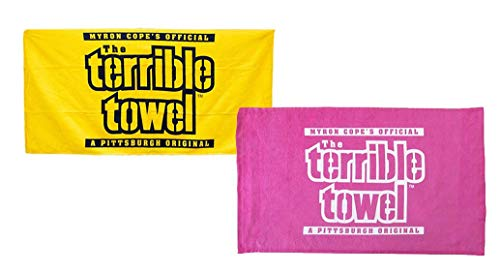 Terrible Towels Official Pittsburgh Set of Two - One Yellow & One Pink
