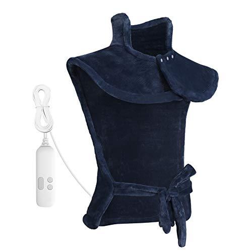 Heizkissen für Rücken Schulter Nacken Abschaltautomatik Wärmekissen und Schneller Heiztechnologie für Entlastung von Rücken und Schultern Heizdecke aus Angenehmem Flanellmaterial.