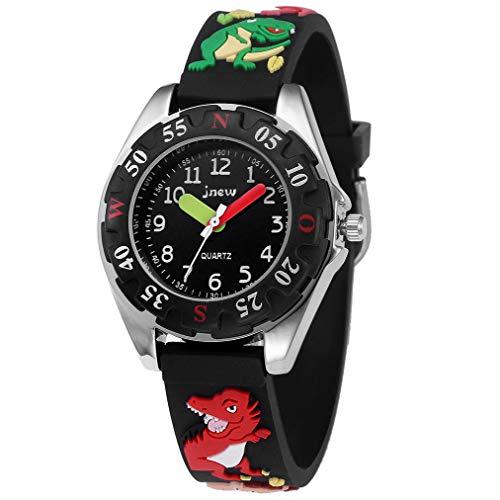KZKR Kinder Uhr Armbanduhr für Kinder Jungen Analog Quarzuhr 3D Cute Cartoon Uhr Digitale Kinderuhr, Teaching Handgelenk Uhren mit Silikon Armband