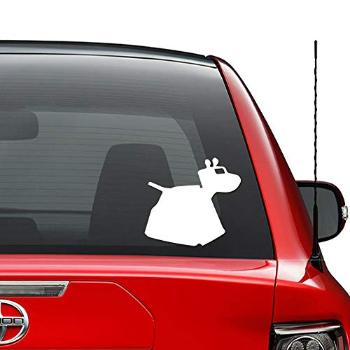 Dr Who K-9 Robot Dog Vinyl Decal Sticker Car Truck Vehicle Bumper Window Wall Decor Helmet Motorcycle and More - (Size 7 inch / 18 cm Wide) / (Color Gloss White)