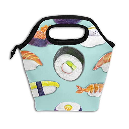 Lao Yang Mai Cute Japanese Best Sushi Unagi Nori Black School Lunch Containers Bag Pail Pack Accessories Tote Ice Cooler Insulated Reusable Box Hot Food Bento Warmer Prep Set Kit Decorations