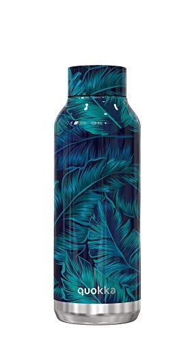 Quokka Solid - Deep Jungle 510 ML | Botellas De Agua Acero Inoxidable Sin BPA |Botella Térmica De Doble Pared - Mantiene el frío y el Calor para Niños y Adultos