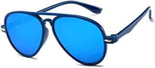 QPRER - Gafas De Sol,Azul De Dibujos Animados Classic Girl IR De Compras Street Gafas De Sol Verano Niños Diario Al Aire Libre Gafas Niño Seaside Party UV Cumpleaños Regalo del Día del Niño