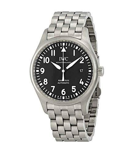 IWC Mark XVIII IW327015 Reloj automático de acero inoxidable para hombre con esfera negra