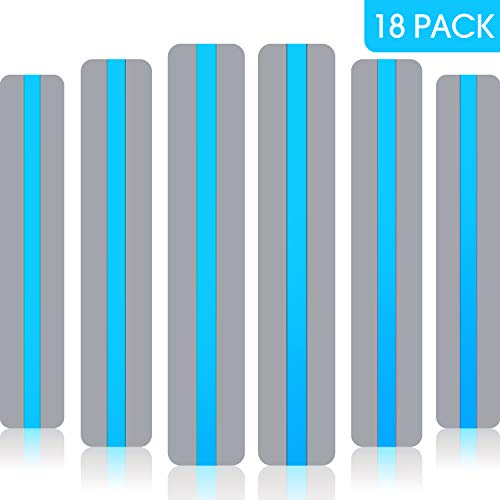 18 Pack Reading Guide Strips Colored Overlay Highlight Bookmarks Reading Strips Help with Dyslexia for Crystal Children and Teacher Supply (Blue)