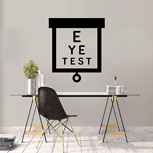 ASFGA Sehtafel Augenklinik einfacher Sehtest Wandaufkleber Aufkleber Test Augenaufkleber Wandaufkleber Raumdekoration Wohnzimmer Kinderzimmer 35x42cm