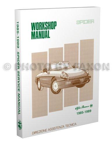 1985-1989 Alfa Romeo Spider Repair Shop Manual Reprint