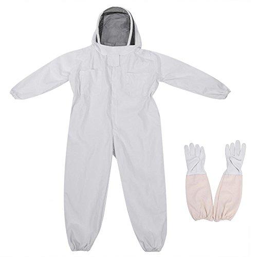 Zerodis Tuta da Apicoltore con Guanti Lunghi Tuta da Apicoltore Anti-zanzara con Velo Protettivo(XL)