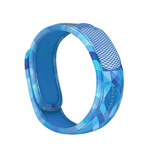 PARA'KITO Mosquito Insect & Bug Repellent Wristband - Waterproof, Outdoor Pest Repeller Bracelet w/Natural Essential Oils (Deep Blue)