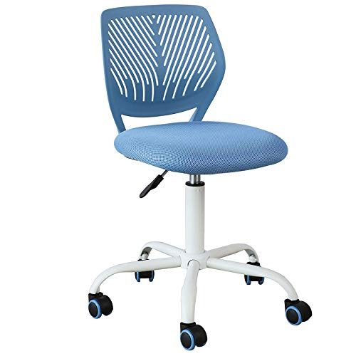 SoBuy FST64-BL Schreibtischstuhl Kinder Jugenddrehstuhl Drehstuhl Bürostuhl mit Rücklehne Arbeitsstuhl höhenverstellbar Blau Sitzhöhe: 46-58cm