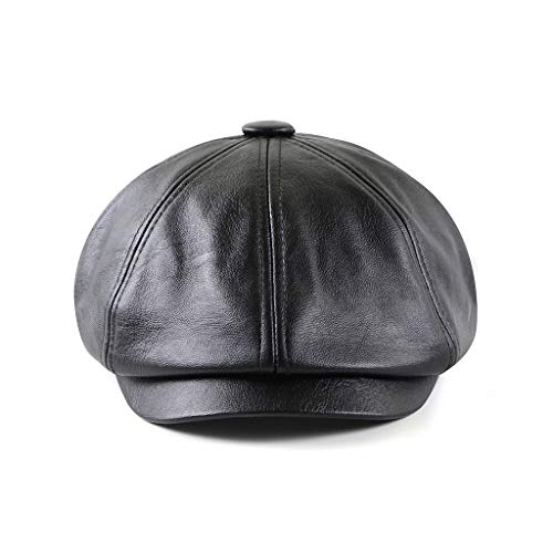 Govicta Men Caps and Hats Leather Cabby Hat Vintage Newsboy Cap Ivy Driving Fishing Cap