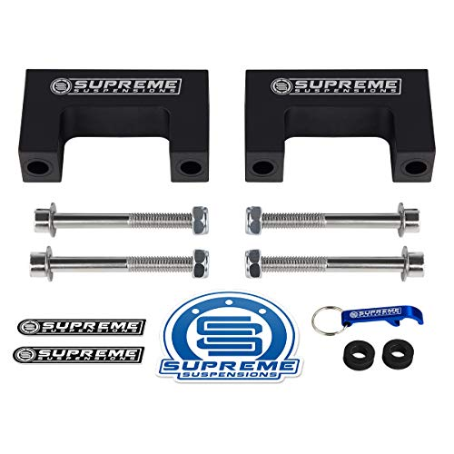 "Supreme Suspensions - Front or Rear Bow Tie Shock Extenders for 2"" Lifted 1982-2004 Chevrolet S-10 [2WD 4WD]"