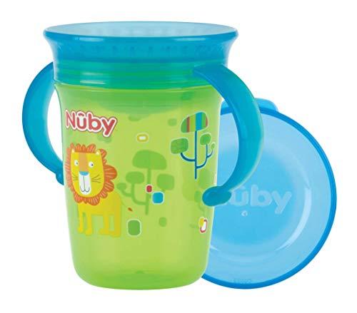 Nûby - 360° Wonder Cup mit Griffen- 240ml - Grün - 6 Monate