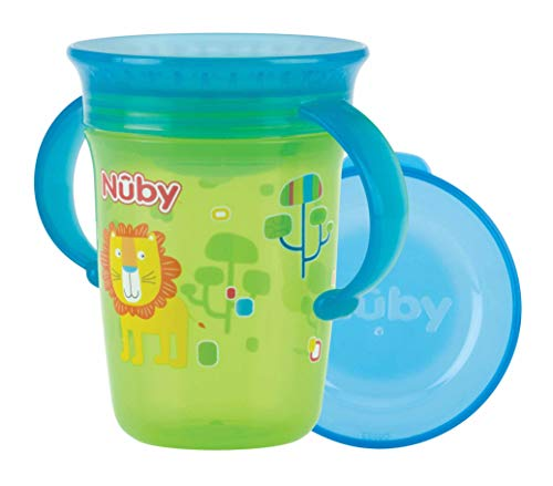 Nuby - Tazza Wonder 360 con Manici Verde 240ml
