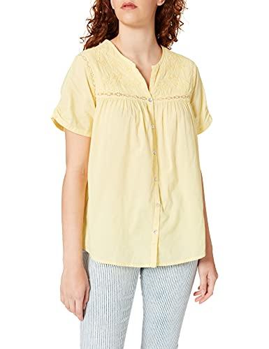 Springfield Blusa Bordado Lace, Amarillo, 38 para Mujer
