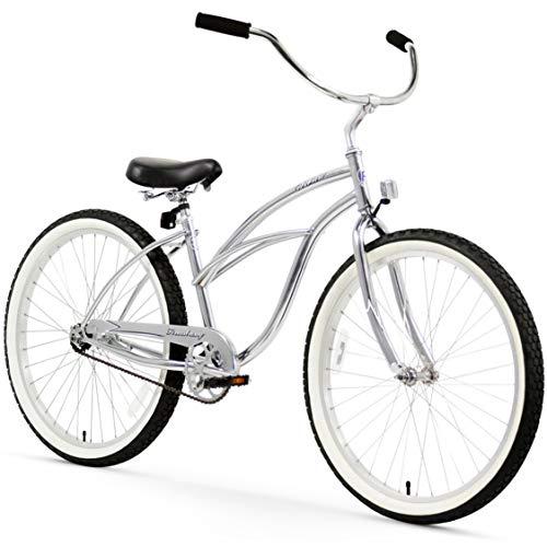"Firmstrong Urban Lady Single Speed - Women's 26"" Beach Cruiser Bike (Chrome)"